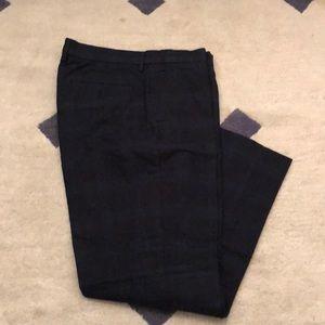 Navy tartan black watch plaid dress pant